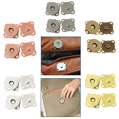 Magnetic Snaps Clasps Fastening Purses Handbags Craft Buttons 18mm Or 14mm • 1.75£