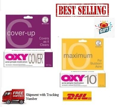 2/3 Pcs OXY Acne Pimple Cream (OXY 10/OXY Cover-up) 25g-Free Shipping • 23.95£