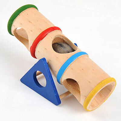 Wooden Small Pet Rat Toy Tunnel Tube Bridge Ladder Hamster Bird Cage Accessories • 4.11£