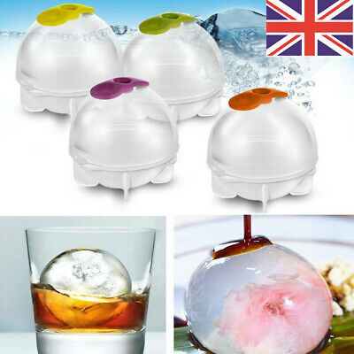 4PCS Silicone Ice Ball Mould Sphere Ice Cube Round Ball Whisky Maker Party Mold • 4.99£