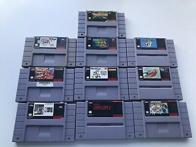 $ CDN108.99 • Buy Huge Lot Of 10 Super Nintendo Games Super Mario World Jungle Book Snes Read