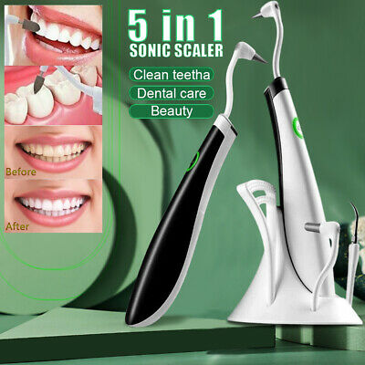 5in1 Electric Sonic Dental Scaler Tartar Calculus Plaque Remover Teeth Cleaner • 14.87£