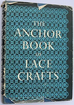 Vintage Lace Crafts Book Hand-knitted And Machine-knitted Lace Crochet Tatting • 24.95£