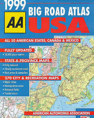 (Good)-Big Road Atlas USA, Canada And Mexico 1999 (AA Atlases S.) (Paperback)-Au • 21.08£