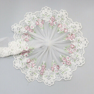 2 Yard For Lace Edge Trim Ribbon Wedding Applique Flower Sewing Embroidered DIY • 2.57£