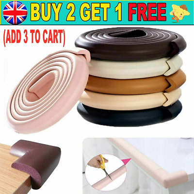 £5.98 • Buy 2M Kids Safety Foam Rubber Bumper Strip Safety Table Edge Corner Protector