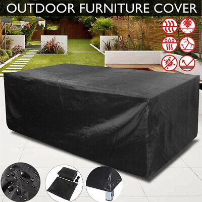 Heavy Duty Garden Patio Furniture Table Cover For Rattan Table Cube Set Outdoor  • 23.94£