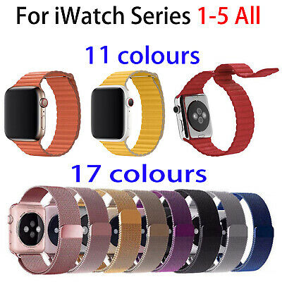 AU18.02 • Buy Magnetic Loop Milanese / Leather Wrist Band Strap For AppIe Watch 38 42 40 44mm