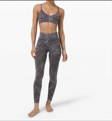 $ CDN59 • Buy NWT Lululemon Size 6 Ebb To Street Tight *Wash Tie Dye Gray Blue SWG1