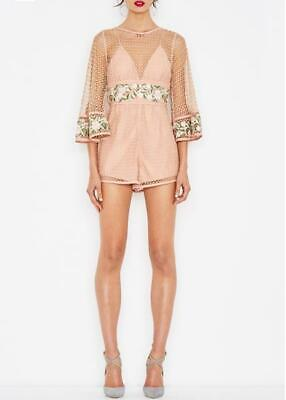 AU119.11 • Buy Alice McCall All Eyes On You Antique Rose Playsuit Size 10 RRP$420