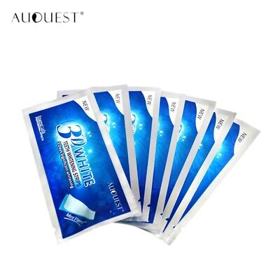 AU22.99 • Buy Auquest New Crest 3D Pearly White Teeth Whitening Gel Strips Bright White T E3D9