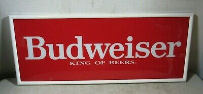 $ CDN120.81 • Buy Vintage Budweiser King Of Beers Glass Sign