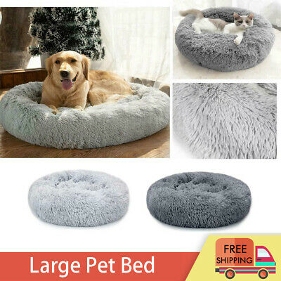 Pet Dog Cat Calming Beds Comfy Shag Warm Fluffy Bed Nest S M L XL Fur Donut Pad • 12.99£