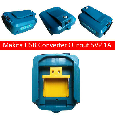 AU21.99 • Buy 2 USB Port Phone Charger Adapter Li-ion Battery For Makita 18V 14.4V ADP05