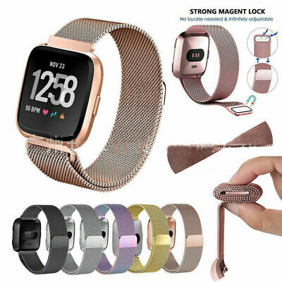 $ CDN9.15 • Buy For Fitbit Versa 2 Band Replacement Stainless Magnetic Smart Watch Wrist Strap