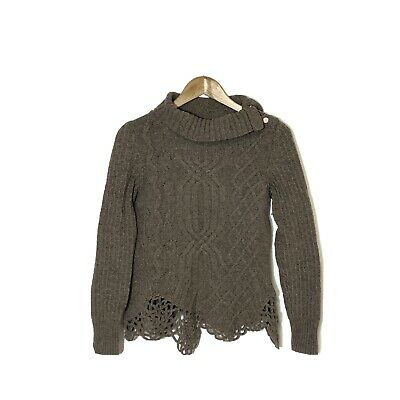 $ CDN49.99 • Buy Anthropologie Moth Cable Knit Turtle Neck Sweater Size M