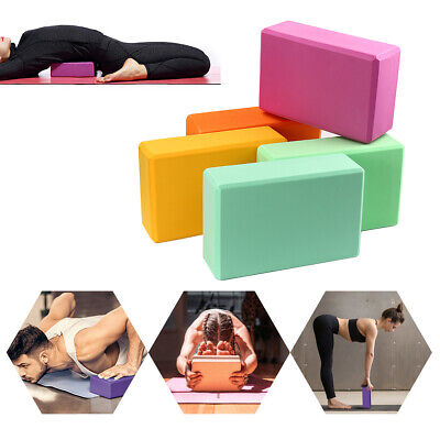 9  Yoga Block Pilates Workouts Eva Brick Foam Fitness Exercise Gym Training • 5.48£