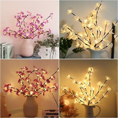 20 LED Orchid Tree Willow Branch Light Lamp Party Home Garden Floral Decoration • 6.69£