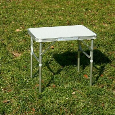 Aluminium Portable Height Adjustable Folding Table Camping Outdoor Picnic Party • 16.99£
