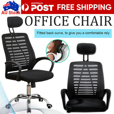 AU72.59 • Buy Executive Computer Office Chair Ergonomic Breathable Mesh Cushions Support Seat