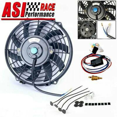 AU64 • Buy 12v 9  Pull Push Radiator Electric Thermo Cueved Blade Fan&mounting Kits&relay