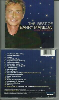 Barry Manilow - Music And Passion Cd / Best Of + Unreleased Track / Near Mint • 1.99£