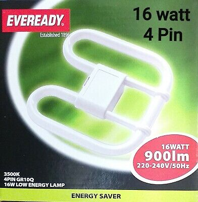 4 Pin 16W Tube Warm Fluorescent Energy Saving Bulb Lamp Light SMALL 2Pin New • 4.99£