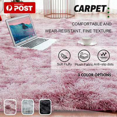 AU36.09 • Buy Rectangle Shaggy Carpet Bedroom Living Room Floor Mat Pads Soft Fluffy Area Rugs