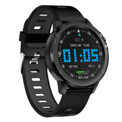 AU41.21 • Buy L8 Smart Watch Mens Fitness Tracker Heart Rate Monitor ECG PPG IP68 Black