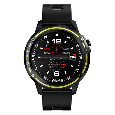 AU43.40 • Buy L8 Smart Watch Mens Fitness Tracker Heart Rate Monitor ECG PPG IP68 Yellow