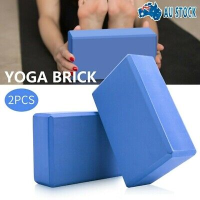 AU10.99 • Buy 2Pcs VIVA Yoga Block Brick Foaming Home Exercise Practice Fitness Gym Sport Tool