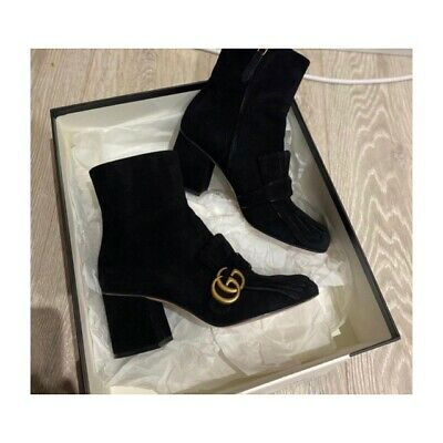 Gucci Fringed Marmont Suede Boots • 350£