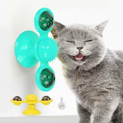 AU9.99 • Buy Windmill Cat Toy Kitty Turntable Interactive Toy Scratch Hair Tickle Brush AU