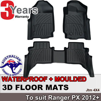 AU137.08 • Buy 3D TPO Floor Mats Waterproof For Ford Ranger Dual Cab 2012-2020