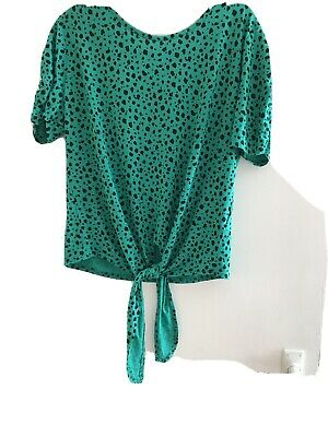 Peacocks Ladies Tie Front Top Size 14 New With Tags • 1.75£