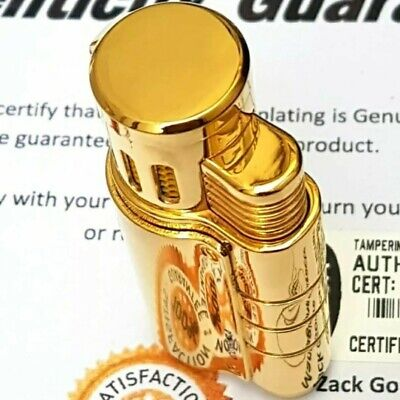 24k Gold Plated Metal Cohiba Lighter Triple Flame 3 Turbo Jet Cigar Punch Gas • 79.99£