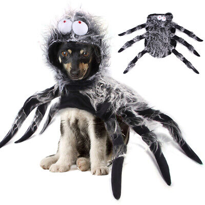 Halloween Pet Black Spider Dog Cat Costume Party Dress Up Cospaly Costume Decor • 15.29£