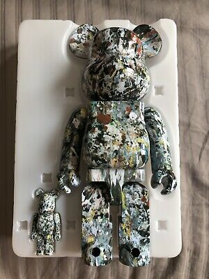 $365 • Buy Medicom Toy Be@rbrick 2018 Jackson Pollock 100 400 Set Ver 2 Bearbrick Japan