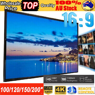 AU43.70 • Buy 100/120/150/200  Projector Screen 16:9 HD Home Film Cinema In/Outdoor Theater