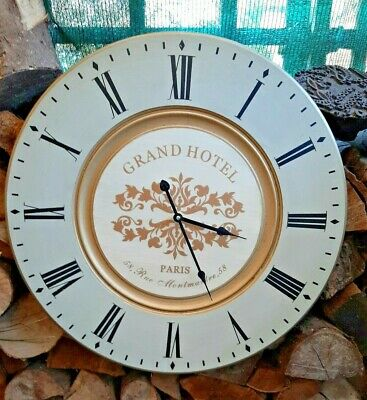 Large 24  Battery Operated, Wooden Clock.GRAND HOTEL PARIS. Suit Sun/garden Room • 19.50£
