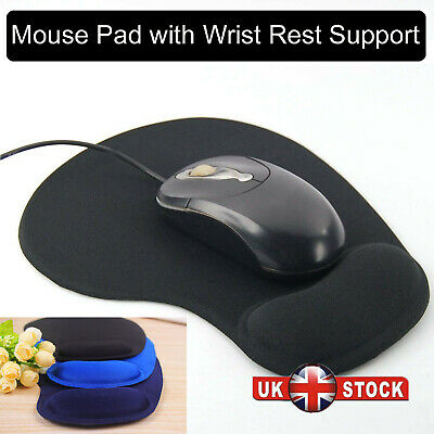 Gel Wrist Rest Support Game Mouse Mice Mat Pad For Computer PC Laptop Anti Slip • 2.58£