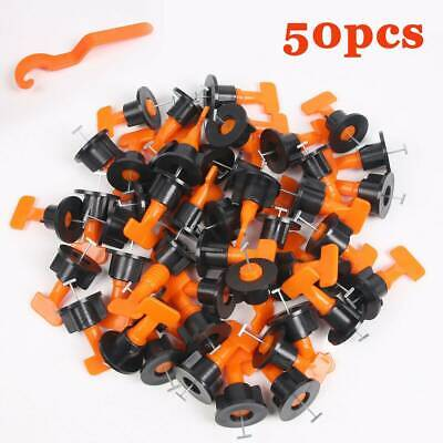 50pcs Tile Leveling System Kit Reusable Tile Spacer Wall Floor Clips Tool UK • 7.59£