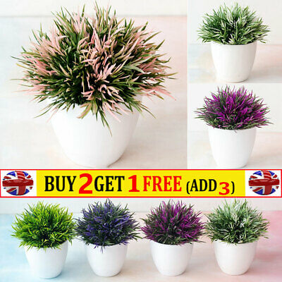 Realistic Artificial In Pot Fake Flowers Potted Plants Bonsai Home Garden Decor • 5.87£