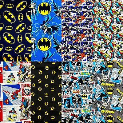 DC Comics Licensed Printed Fabric 100% Cotton Sheet Craft Material 110cm Wide • 5.94£