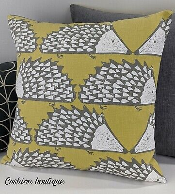 🦔 Scion Spike Fabric Cushion Pillow Cover Hedgehog Design In Honey Geometrical • 14.99£