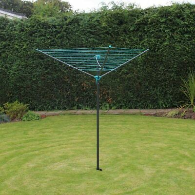 3 Arm Rotary Airer Dryer 16m Washing Line Clothes Garden Outdoor Camping Airer • 17.99£