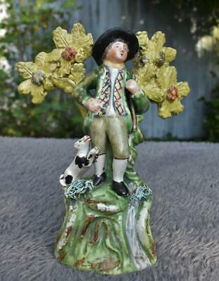 Antique Walton Staffordshire Pearlware Huntsman With Dog Circa 1820 • 0.99£