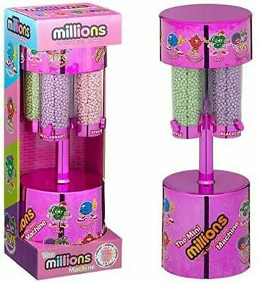 MILLIONS LARGE SWEET DISPENSER MACHINE PINK & 8 X 16g BAGS OF MILLIONS SWEETS • 20.75£