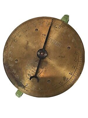 Vintage Brass Face Salter Scale Butchers Grocers Weighing Scales  • 9.99£