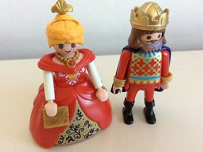 Playmobil Custom Fairy Tale Castle Royal Crinoline Figures Red King/Queen  • 10£